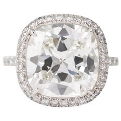 J. Birnbach GIA Certified 8.03 Cushion Brilliant Cut Diamond Ring