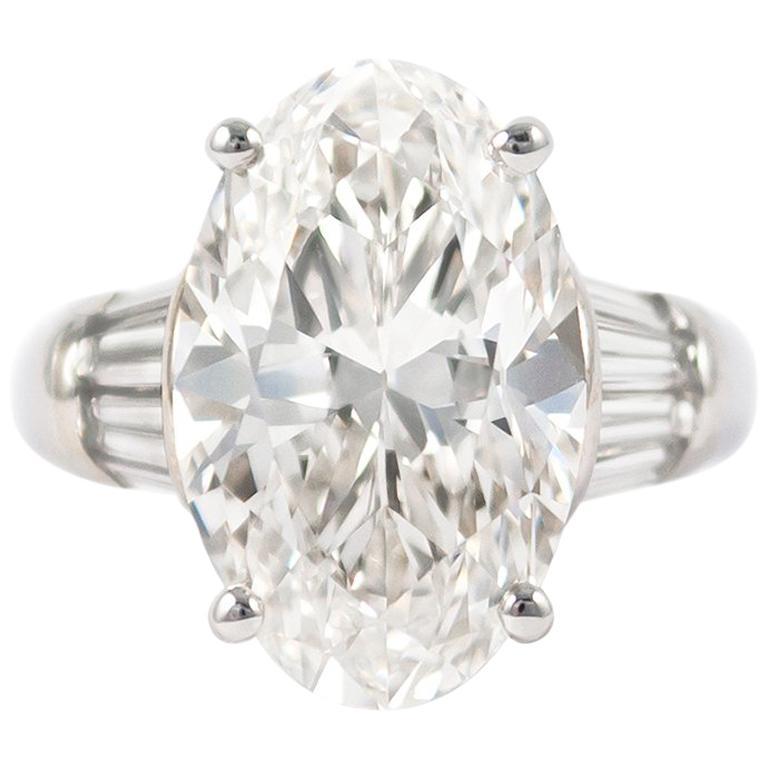 J. Birnbach GIA Certified 8.07 Carat Oval Cut Diamond Ring For Sale ... 04cea2e1f