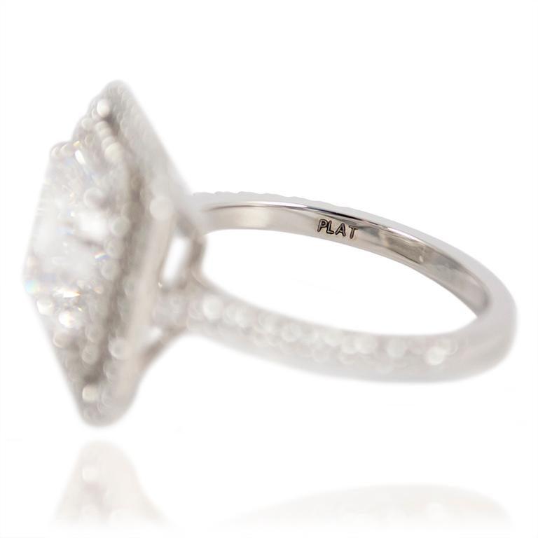J. Birnbach GIA Certified F VVS1 4.09 Carat Asscher Cut Diamond Ring For Sale 1