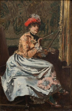 Woman at an Easel