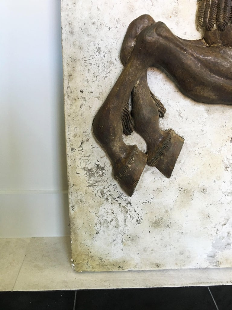J. Bortin Wall Hanging Sculpture of a Horse In Good Condition For Sale In Dallas, TX