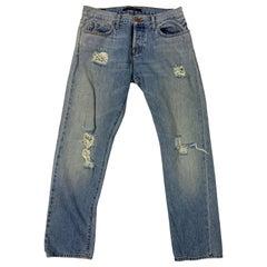J Brand Light Blue Distressed Denim Jeans, Size 26