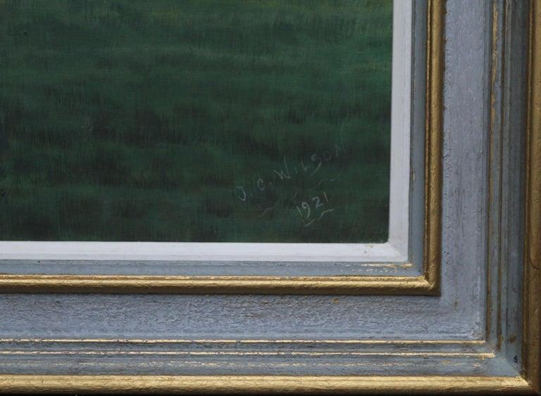 Portrait of an English Setter Stud- Glaisnock Jim - 1920's oil painting dog art For Sale 2