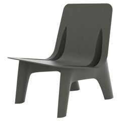 J-Chair Lounge Polished Umbra Grey Color Aluminum Seating by Zieta