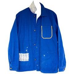 Embellished Jacket Cobalt Blue Tweed Gold Button  J Dauphin