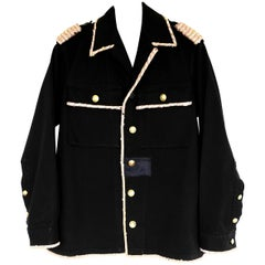 Embellished Epaulettes Jacket Gold Sequin Pink Tweed Military Black J Dauphin