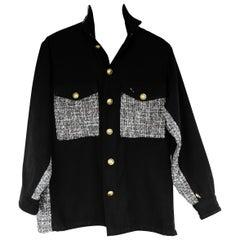 US Military Jacket Upcycled Vintage Sequin Tweed Jacket J Dauphin In Stock