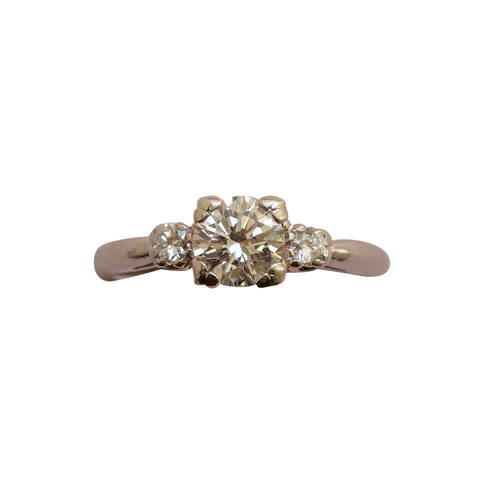 J. E. Caldwell & Co. Platinum and Diamond Ring
