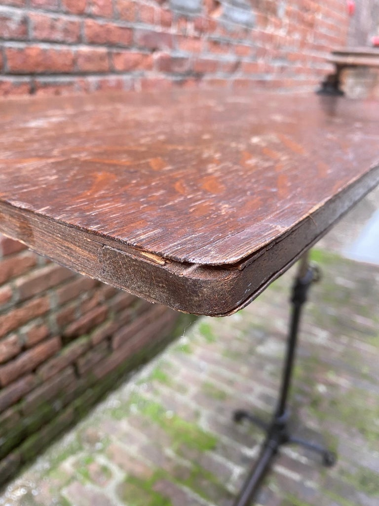 J. Foot & Son, London Iron and Oak Drafting Table For Sale 13