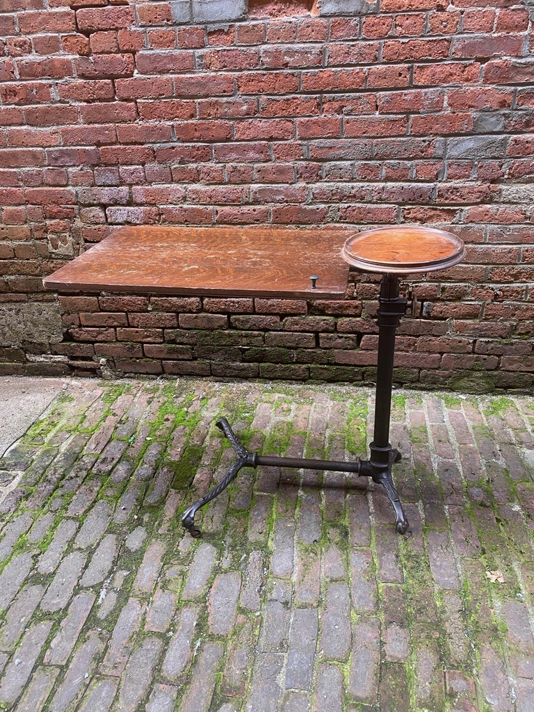 19th Century J. Foot & Son, London Iron and Oak Drafting Table For Sale