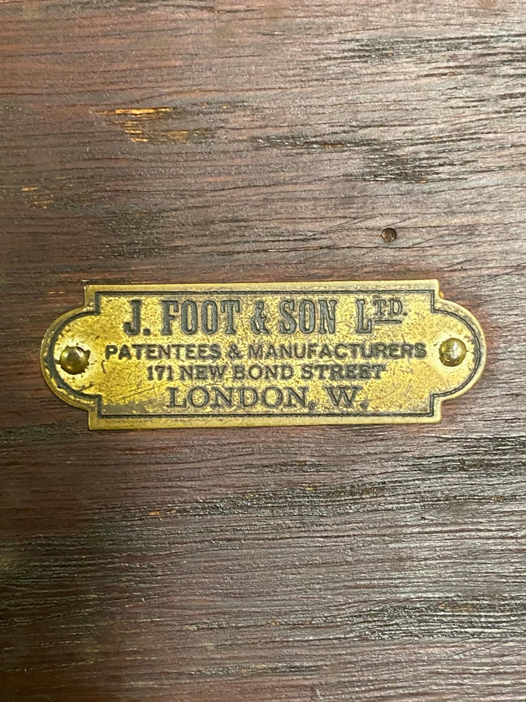 J. Foot & Son, London Iron and Oak Drafting Table For Sale 2