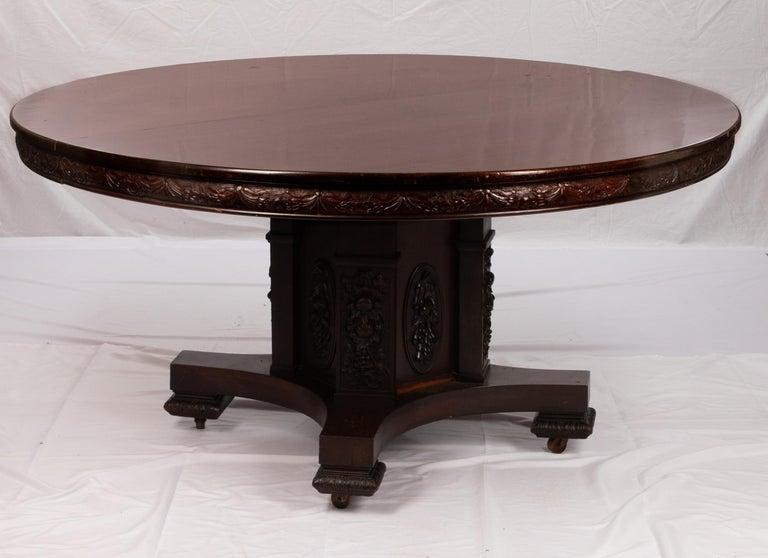 Art Nouveau J Horner Round Dining Table For Sale