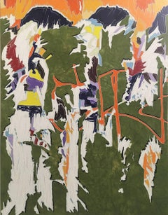 J Ivcevich, Untitled (Chance of Color Shred), abstract mixed media painting 2017