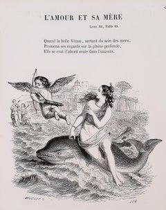 Florian traduit par Grandville - Rare Book Engraved by J. J. Grandville - 1852