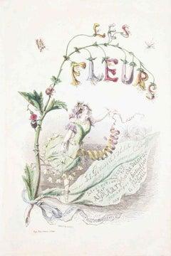 Frontispiece - Les Fleurs Animées Vol.I - Litho by J.J. Grandville - 1847