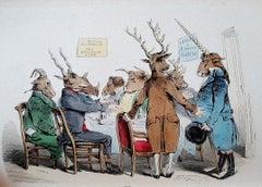 Les Métamorphoses du Jour - RareBook Engraved by J. J. Grandville - 1869