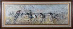 J. Jenas - Contemporary Oil, Herding Wild Horses