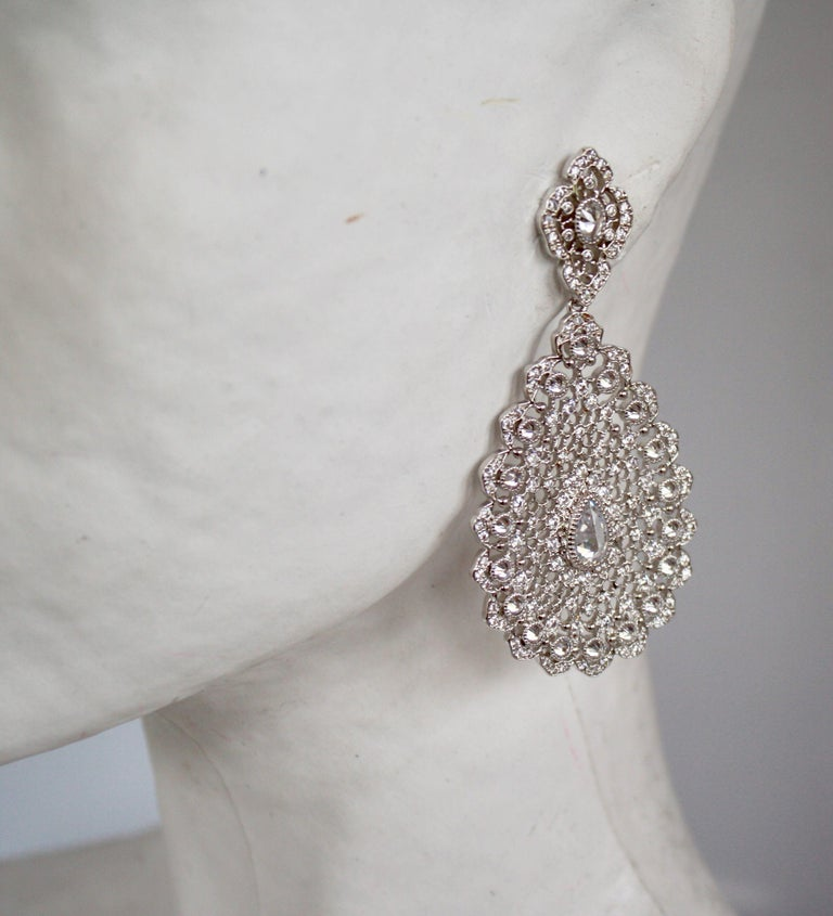 Beautiful evening earrings from J. Kasi in vermeil and CZ.