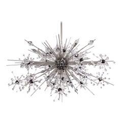 J. & L. Lobmeyr Starburst Chandelier in Chrome with Cut Crystals, 2008