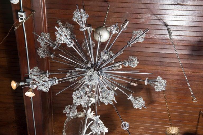 J. & L. Lobmeyr Starburst Chrome, Crystal Chandelier, by Hans Harald Rath For Sale 5