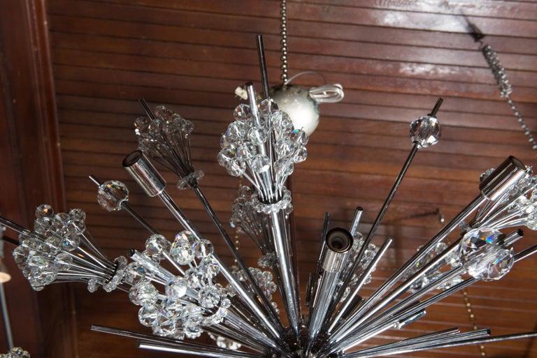 J. & L. Lobmeyr Starburst Chrome, Crystal Chandelier, by Hans Harald Rath For Sale 6