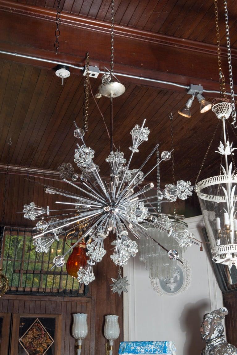 J. & L. Lobmeyr Starburst Chrome, Crystal Chandelier, by Hans Harald Rath For Sale 7