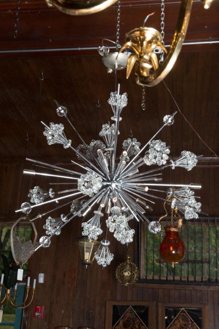 J. & L. Lobmeyr Starburst Chrome, Crystal Chandelier, by Hans Harald Rath For Sale 8