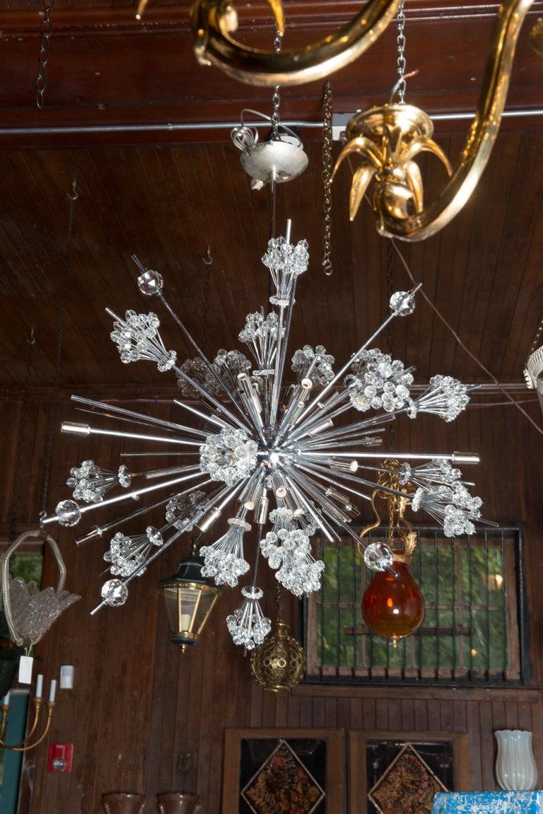 J. & L. Lobmeyr Starburst Chrome, Crystal Chandelier, by Hans Harald Rath For Sale 9