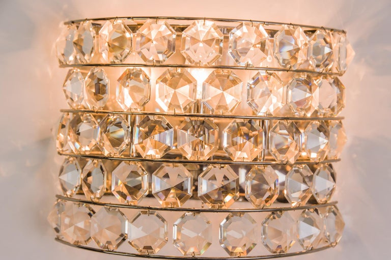 J & L Lobmeyr Wall Lamp 1950s 'Signed' For Sale 3