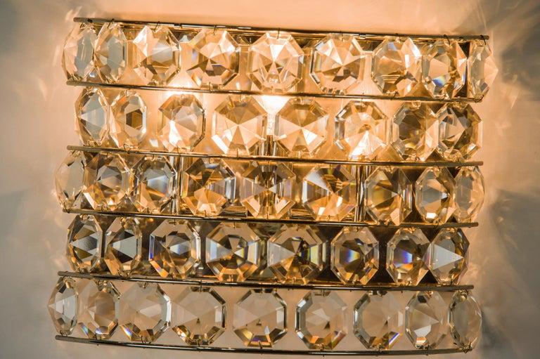 Austrian J & L Lobmeyr Wall Lamp 1950s 'Signed' For Sale
