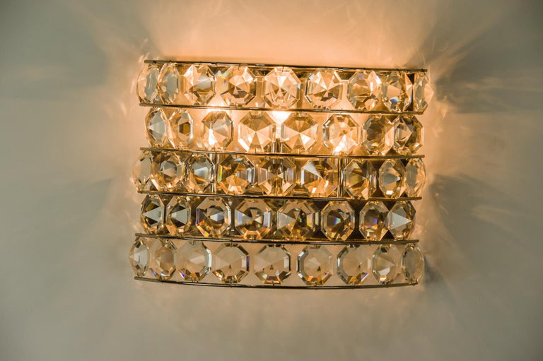 Plated J & L Lobmeyr Wall Lamp 1950s 'Signed' For Sale