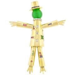 J. Lacloche Épouvantail 'Scarecrow' Jeweled Clip Brooch