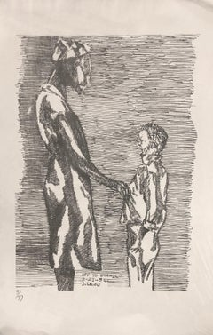 """""""Off To School"""" Limited Edition Etching, 3/77"""