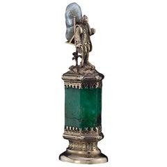 J. Mandereau / Maison Molgatini, 18k Gold Emerald and Baroque Pearl Desk Seal