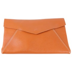J. McLaughlin Oscar Envelope Clutch Orange