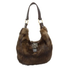 J. Mendel Brown Sable Fur Bag