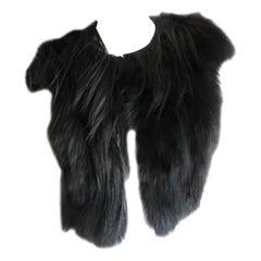 J. Mendel Paris Black Fox Fur Vest