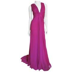 J Mendel Paris New Pink Silk Gown