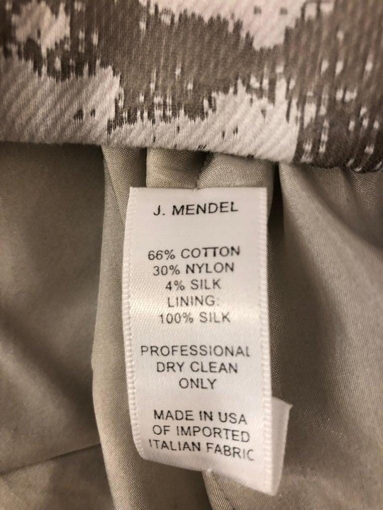 J. Mendel Paris Strapless Grey/Silver Dress (S) For Sale 3