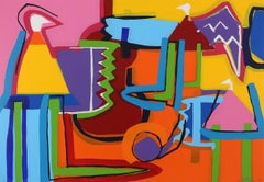 """Contemporary Art """"The Color Maker""""Large Abstract Expressionist Acrilic on Canvas"""