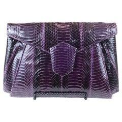 J. Renee Purple Python Evening Bag