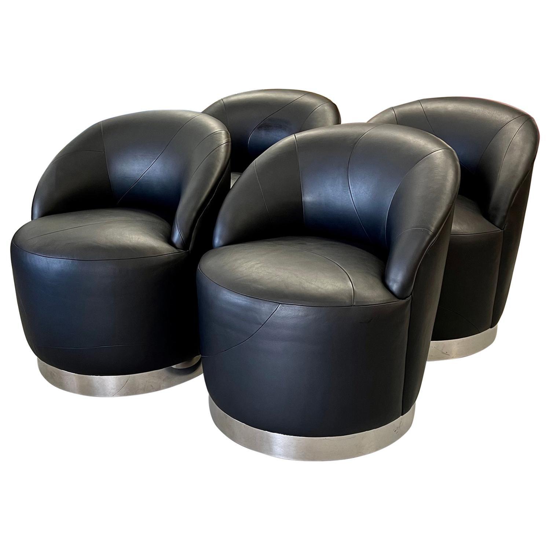 J Robert Scott Barrel Swivel Chairs