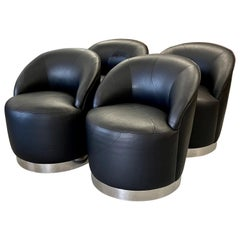 J Robert Scott Barrel Swivel Chairs