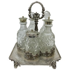 J. Round & sons Victorian english Silver Plated Cruet, circa 1890