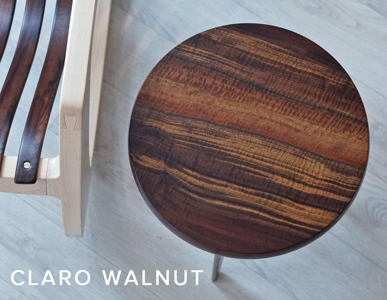 J. Rusten Studio-crafted California Shaped Desk from Salvaged CA Claro Walnut  For Sale 2