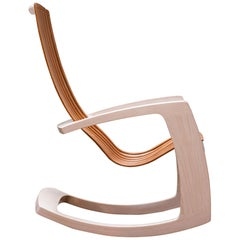 J. Rusten Studio-Crafted Sculptural Modern Rocking Chair in Maple and Cherry