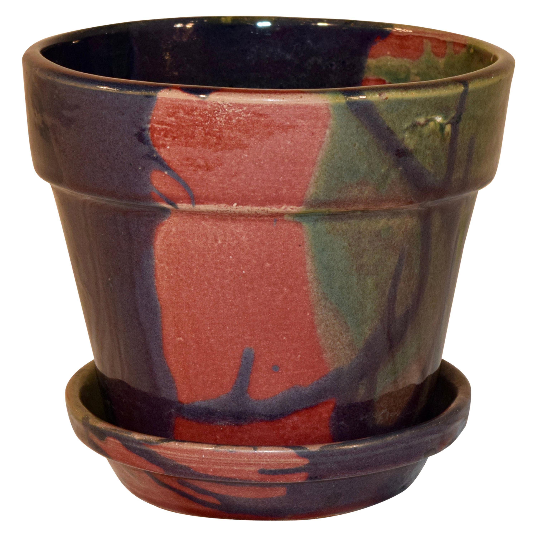 J & S Beaumont NC Flower Pot and Saucer