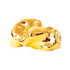 J Schatz Studio 2018 Gold Amorphous Sculpture in Stoneware - Organic Modern