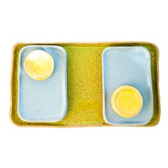 J Schatz Studio 2018 Sushi Mod Platter Set, Organic Modern Stoneware, in Stock