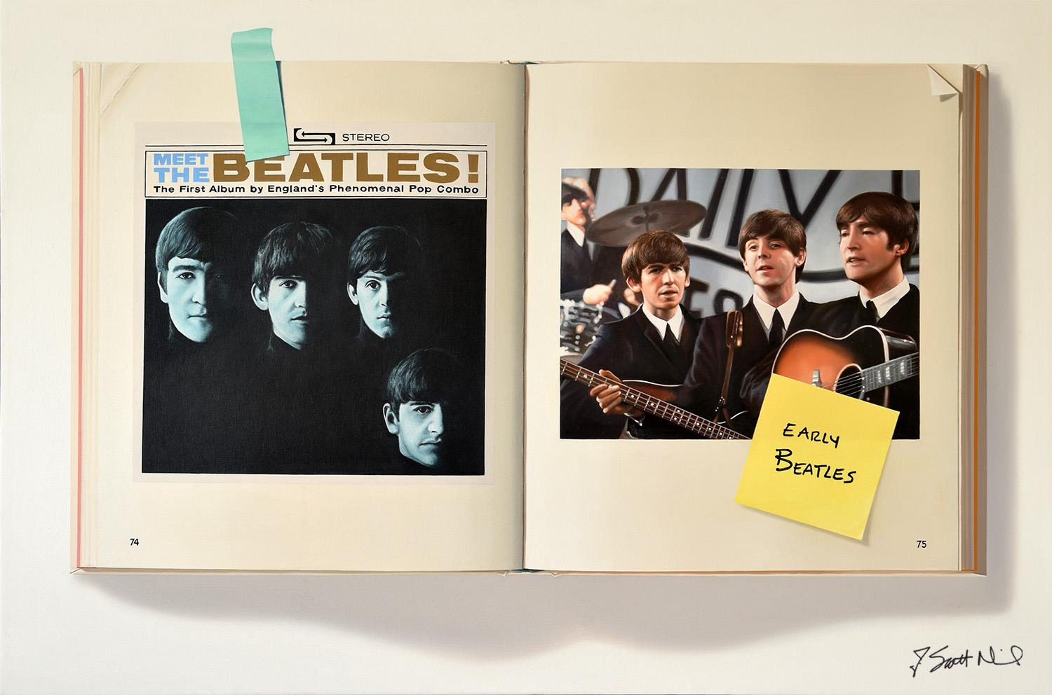 Beatles Book  -- Original Oil Painting -- Please watch attached video
